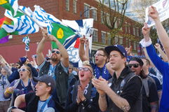 Vancouver Whitecaps  supporters Stock Photo