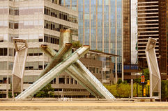 Vancouver 2010 Winter Olympic Games cauldron. Stock Photos