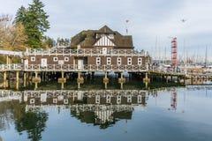 Vancouver Wioślarskiego klubu budynek z wiele łodziami Fotografia Stock