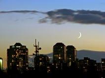 Vancouver, zachód słońca obrazy royalty free