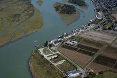Vancouver - zones et fermes aériens de Richmond photos stock