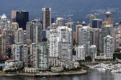 VancouverHighrises Lizenzfreies Stockbild