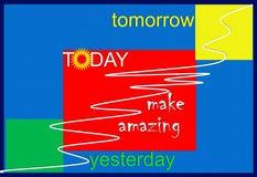 Vandaag, gisteren, morgen Royalty-vrije Stock Afbeelding