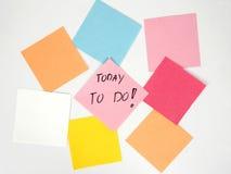 Vandaag te doen om! Stock Fotografie