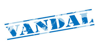 Vandal blue stamp Royalty Free Stock Photography