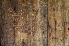 Vandal graffiti on wood wall Royalty Free Stock Photography