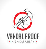 Vandal proof - Vandal resistant - High durability. Concept Royalty Free Stock Photo
