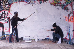 Vandali dei graffiti Immagini Stock Libere da Diritti