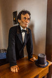 VANDALIA ΙΛΛΙΝΟΙΣ - Manican του Abraham Lincoln σε Vandalia Statehouse, εσωτερικά του πρώτου κράτους Capitol 1836-1839 του Ιλλινό στοκ φωτογραφίες με δικαίωμα ελεύθερης χρήσης