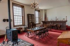 VANDALIA ΙΛΛΙΝΟΙΣ - Vandalia Statehouse, εσωτερικό του πρώτου κράτους Capitol 1836-1839 του Ιλλινόις και του σπιτιού της περιοχής στοκ εικόνα