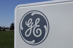 Vandalia - circa abril de 2018: La instalación de aviación de General Electric La aviación de GE es proveedor de GE90 y del SALTO imágenes de archivo libres de regalías