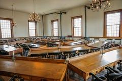 VANDALIA ILLINOIS - den Vandalia statehousen, inre av Illinois påstår först Kapitolium 1836-1839 och hem- av den Abraham Lincoln  Royaltyfria Bilder