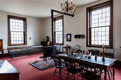 VANDALIA ILLINOIS - Vandalia Statehouse, Binnenlands van Capitool 1836-1839 van de Staat van Illinois eerste en huis van Abraham  Stock Foto's
