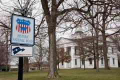 VANDALIA ILLINOIS - Vandalia-Statehouse, erstes Staats-Kapitol 1836-1839 Illinois und Haupt von Abraham Lincoln-Standort Lizenzfreie Stockfotografie