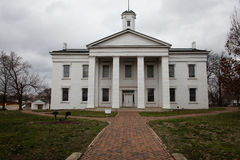 VANDALIA ILLINOIS - Vandalia Statehouse, Illinois först statlig Kapitolium 1836-1839 och hem- av den Abraham Lincoln platsen Royaltyfria Bilder