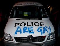 vandalised фургон полиций Стоковое Изображение RF