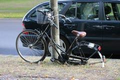 Vandalised bike Stock Photos