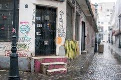 Vandalised building Stock Images