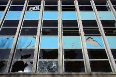 Vandalised Building In Close Crop Stock Image
