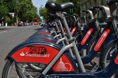 Vandalized Santander Boris bike London Royalty Free Stock Images