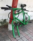 vandaliserad cykel Arkivfoto