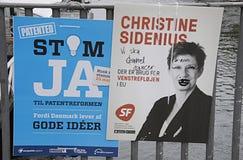 Vandaliserad DENMARK_eu affisch Arkivfoton