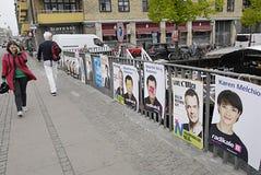Vandaliserad DENMARK_eu affisch Arkivfoto