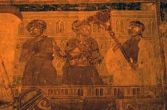 Vandaliserad kyrklig symbol Fotografering för Bildbyråer