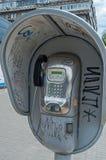Vandaliserad payphone Fotografering för Bildbyråer