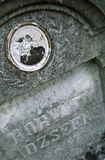 Vandalism. Traces on a monument Royalty Free Stock Photo