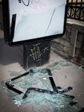 Vandalism in the city street Royalty Free Stock Photography