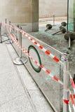 Vandalism destruction. Hooliganism destruction with lot of broken glass Royalty Free Stock Images