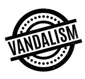 Vandalism rubber stamp. Grunge design with dust scratches. Effects can be easily removed for a clean, crisp look. Color is easily changed Royalty Free Stock Photo