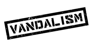 Vandalism rubber stamp Stock Images
