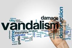 Vandalism word cloud Royalty Free Stock Photography
