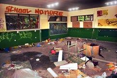 Vandalisme d'école image stock