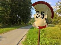 Vandalisme de panneau routier Photo libre de droits