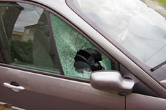 Vandalismo del coche fotos de archivo