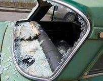 Vandalismo del coche Fotografía de archivo libre de regalías