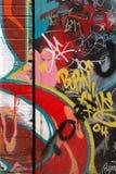 Vandalismo della parete dei graffiti Immagine Stock
