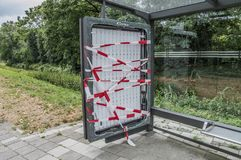 Free Vandalized Bus Stop At Amsterdam East The Netherlands Stock Photography - 121727102