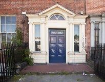 Vandalized Door In Dublin Stock Image