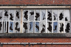 Vandalized industrial premises Royalty Free Stock Photography