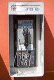 Vandalized Payphone 2 Royalty Free Stock Image