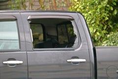 Vandalized Pick-Up Truck Stock Photo
