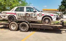 Vandalized Police Car stock image