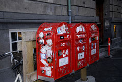 VANDALIZED POST BOXES Royalty Free Stock Photos