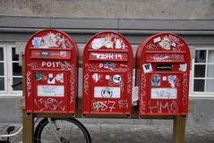 VANDALIZED POST BOXES Stock Images
