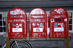 VANDALIZED POST BOXES Royalty Free Stock Photo