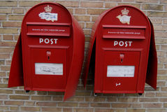 VANDALIZED POST BOXES AND STOLEN MAIL Royalty Free Stock Photo